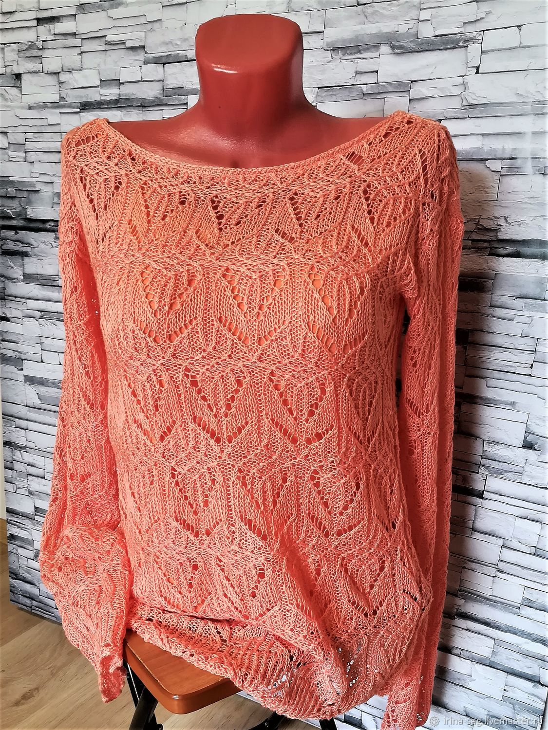 Coral pointelle jumper, Jumpers, Sochi,  Фото №1