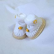Работы для детей, handmade. Livemaster - original item Booties for your little Princess. Handmade.