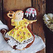 """Сувениры и подарки ручной работы. Ярмарка Мастеров - ручная работа Пряник """"Пасхальная мышка"""". Handmade."""