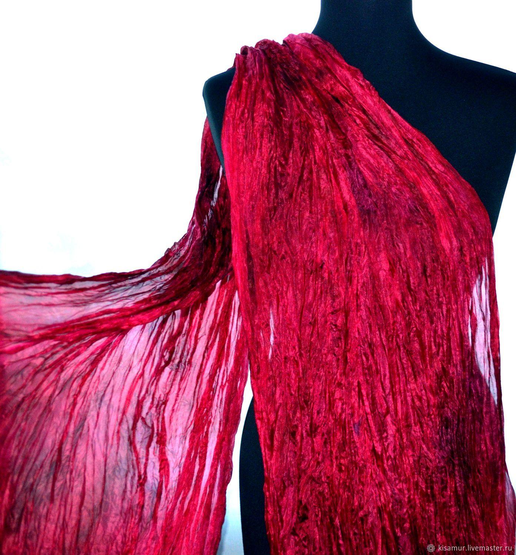 Shawls   Warm Stoles handmade. Livemaster - handmade. Buy Red silk Women s  Scarf stole ... 4908b149b