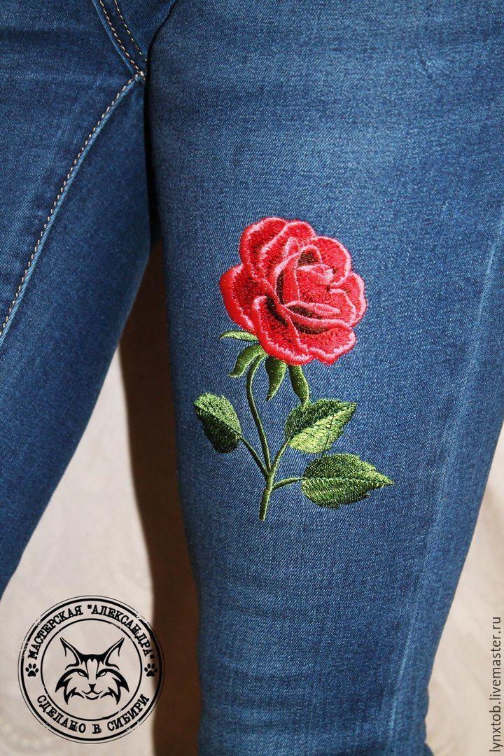 Вышивка на джинсы картинки