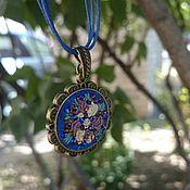 Pendant handmade. Livemaster - original item Pendant embroidered