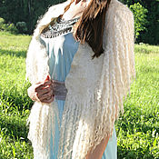 Аксессуары handmade. Livemaster - original item Felted shawl, Cape on the shoulders of wool designer shawl, wings. Handmade.