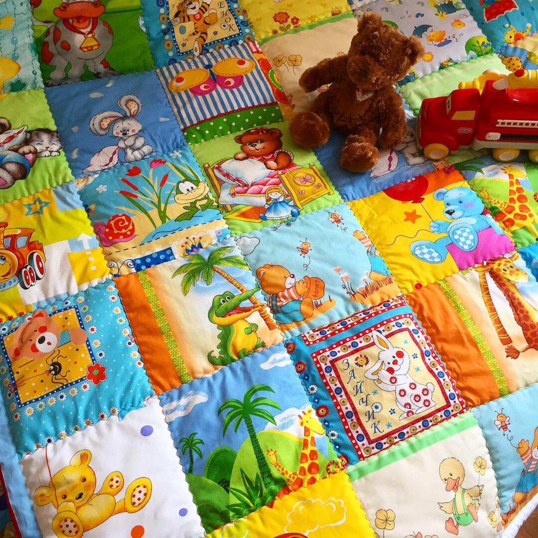 Текстиль, ковры ручной работы. Ярмарка Мастеров - ручная работа. Купить Двухсторонний развивающий коврик большой размер. Handmade. Одеяло детское