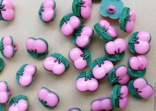 Шитье ручной работы. Ярмарка Мастеров - ручная работа. Купить Вишенки розовые. Handmade. Материалы для творчества, товары для рукоделия, пуговица