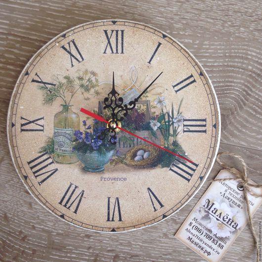Часы для дома ручной работы. Ярмарка Мастеров - ручная работа. Купить Часы Прованс. Handmade. Бежевый, малёна декупаж