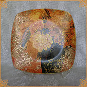 """Подарки к праздникам handmade. Livemaster - original item Interior dish """"Peonies""""null. Handmade."""
