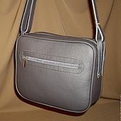 Сумки и аксессуары handmade. Livemaster - original item The small gray purse. Natural leather floter.. Handmade.