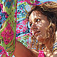 """Шали, палантины ручной работы. Шаль """"Felicita"""". Knit Factory. Ярмарка Мастеров. Розовый цвет, пляжная мода, отпуск на море"""
