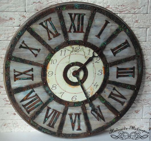 """Часы для дома ручной работы. Ярмарка Мастеров - ручная работа. Купить Часы настенные 50см """"Western-II"""". Handmade."""