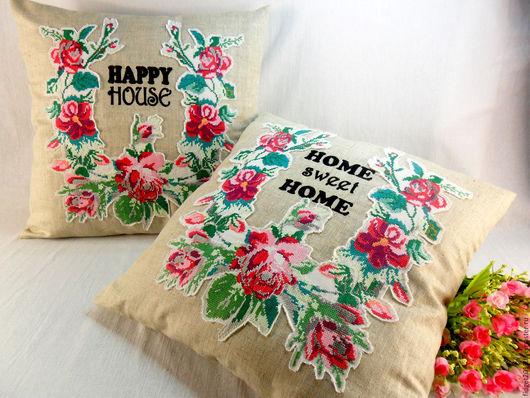 Текстиль, ковры ручной работы. Ярмарка Мастеров - ручная работа. Купить Наволочки декоративные с винтажной вышивкой Цена за 1шт. Handmade.