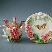 Посуда ручной работы. Ярмарка Мастеров - ручная работа Чайная пара Наперстяночка. Handmade.