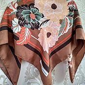 Винтаж handmade. Livemaster - original item Vintage accessories: vintage shawl, silk, vintage Italy. Handmade.