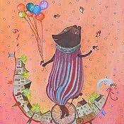 """Картины и панно ручной работы. Ярмарка Мастеров - ручная работа Картина """"А вы любите цирк?"""". Handmade."""