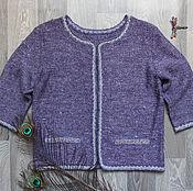 Одежда ручной работы. Ярмарка Мастеров - ручная работа Жакет из льна с шёлком.. Handmade.