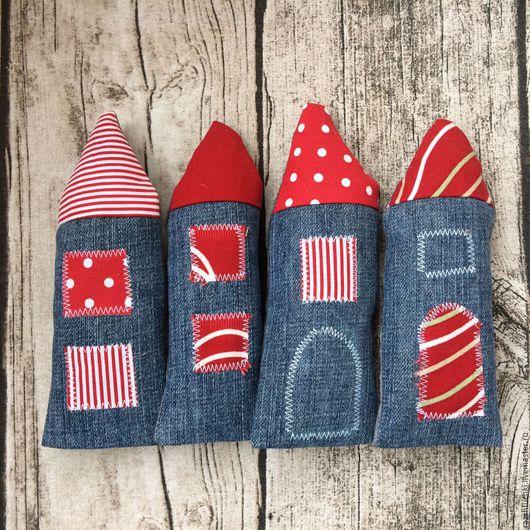 Детская ручной работы. Ярмарка Мастеров - ручная работа. Купить Домики текстильные Красные. Handmade. Уютный дом, текстиль для интерьера