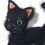 Куклы и игрушки handmade. Livemaster - original item Felted toy Black cat. Handmade.