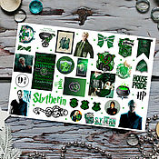 Материалы для творчества handmade. Livemaster - original item Stickers Hogwarts Gryffindor Slytherin Harry Potter Ravenclaw Puffenduya. Handmade.