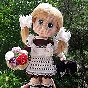 Куклы и пупсы ручной работы. Ярмарка Мастеров - ручная работа Первоклашка, вязаная кукла. Handmade.
