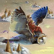 Картины и панно ручной работы. Ярмарка Мастеров - ручная работа Картина Воздушные замки. Handmade.