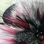 Украшения ручной работы. Ярмарка Мастеров - ручная работа Брошь из меха «Искушение ». Handmade.