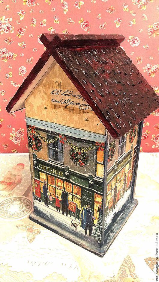 Кухня ручной работы. Ярмарка Мастеров - ручная работа. Купить Чайный домик ручной работы. Handmade. Тёмно-синий, женщине