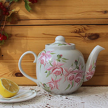 Tableware handmade. Livemaster - original item Teapot with painting