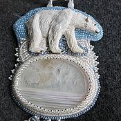 """Украшения ручной работы. Ярмарка Мастеров - ручная работа Крупный кулон """"Арктика"""". Handmade."""