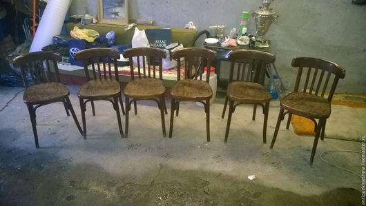 Винтажные предметы интерьера. Ярмарка Мастеров - ручная работа. Купить Комплект стульев начало 20 века 6 штук. Handmade.