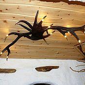 Для дома и интерьера ручной работы. Ярмарка Мастеров - ручная работа Люстра с 12 резными концами. Handmade.