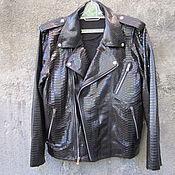 Одежда ручной работы. Ярмарка Мастеров - ручная работа Мужская куртка из кожи питона. Handmade.