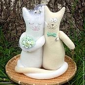 Свадебный салон ручной работы. Ярмарка Мастеров - ручная работа Свадебные коты-неразлучники на мятную свадьбу. Handmade.