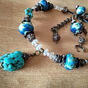 handmade. Livemaster - original item Boho Necklace