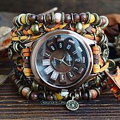 Украшения handmade. Livemaster - original item Brown Unisex wrist watch
