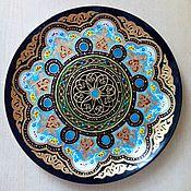 Посуда handmade. Livemaster - original item Plate decorative wall in the Uzbek style. Handmade.