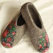 """Обувь ручной работы. Ярмарка Мастеров - ручная работа Тапочки """"Анисья"""". Handmade."""