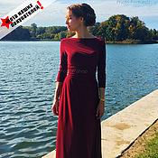 Одежда ручной работы. Ярмарка Мастеров - ручная работа Платье в пол бордо. Handmade.