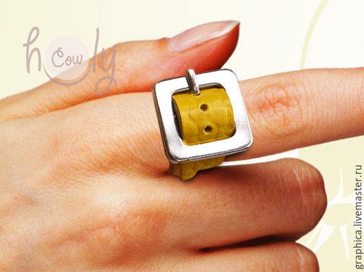 """Кольца ручной работы. Ярмарка Мастеров - ручная работа. Купить Оригинальное кожаное кольцо """"Positive"""". Handmade. Кольцо, оригинальное кольцо"""