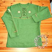 Рубашки ручной работы. Ярмарка Мастеров - ручная работа Рубаха вышитая льняная мужская в славянском стиле. Handmade.