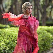 Аксессуары handmade. Livemaster - original item Red scarf Wool Shawl
