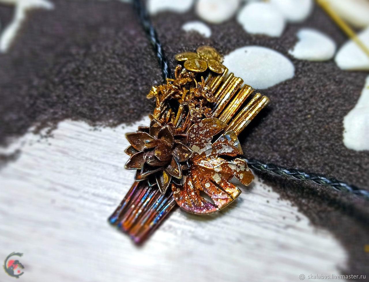 'Velum' pendant made of a bouquet of various flowers!, Pendants, Chelyabinsk,  Фото №1