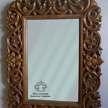 Для дома и интерьера ручной работы. Ярмарка Мастеров - ручная работа Рама для зеркала Ажурная. Handmade.