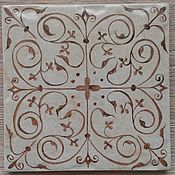 Для дома и интерьера handmade. Livemaster - original item Tile with amulet ornament. Handmade.
