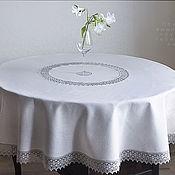 Для дома и интерьера handmade. Livemaster - original item Linen tablecloth grey. .180 cm.. Handmade.