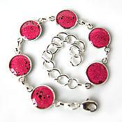 Украшения handmade. Livemaster - original item Bracelet pink enamel. Handmade.
