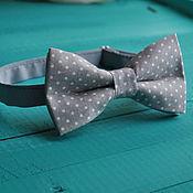 Аксессуары handmade. Livemaster - original item Tie Serenade / bow tie gray polka dot print. Handmade.