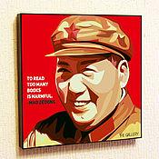 Картины и панно handmade. Livemaster - original item Painting Pop Art Mao Zedong. Handmade.