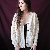 handmade. Livemaster - original item Knitted cardigan, Jacket, jacket