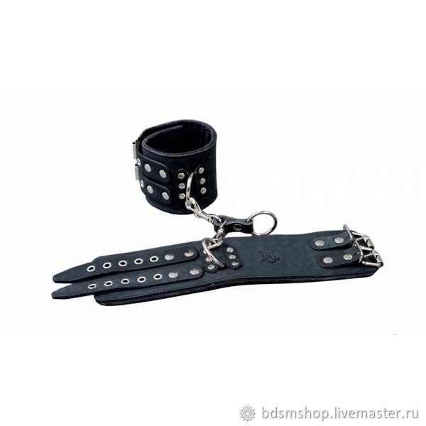 Поножи BDSM широкие черные ( Код р25), Комплект для ролевых игр, Санкт-Петербург,  Фото №1