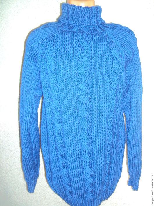 Для мужчин, ручной работы. Ярмарка Мастеров - ручная работа. Купить Мужской свитер. Handmade. Тёмно-синий, одежда, для рыбака